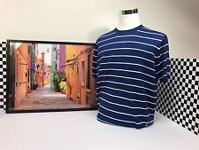 Stefano Ricci Shirt Stripped Sweater Blue Super Special!! Summer Cotton Size 58