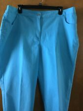 Hearts Of Palm Woman's Plus Beautiful Teal Capris Retail $58.00 NWT Size 24W 3X