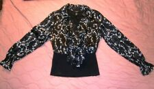 Alfani blouse Sz 4 Med office work business black/white