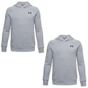 Under Armour Boys Kids Rival Hoodie Sweatshirt Hoody Fleece Cotton Top
