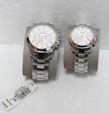 BRAND NEW FOSSIL 2PCS SET ( LADIES / MEN )  WATCH SET BQ2180 SET