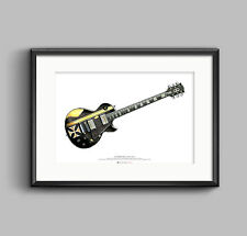 James Hetfield's Gibson Les Paul Iron Cross guitar ART POSTER A2 size