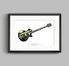 James Hetfield's Gibson Les Paul Iron Cross guitar ART POSTER A2 size