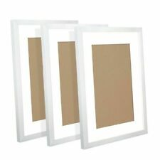 Lisheng PFS-3F-A3-WH Polymer Photo Frame - 3 Pieces, White