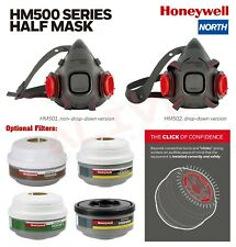 HONEYWELL NORTH® HM500 SERIES HALF MASKS / BAYONET FILTERS CARTRIDGES