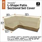 Veranda Water-Resistant 115 Inch Patio Left-Facing Sectional Lounge Set Cover XL