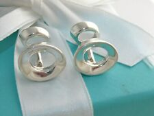 TIFFANY & CO SILVER MORPH OVAL GEHRY CUFFLINKS CUFF LINKS LINK RARE
