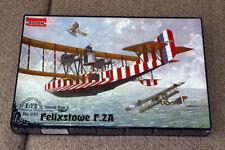 FELIXSTOWE F.2A - WW I BRITISH FLYING BOAT (RAF MARKINGS) #047 1/72 RODEN