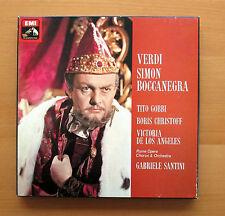 SLS 5090 Verdi Simon Boccanegra Gobbi Christoff Los Angeles EMI 3xLP NM/VG