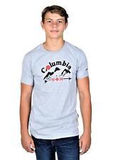 Columbia Men's Short Sleeve T-Shirt Heather Gray Medium