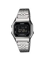 Casio Uhr LA680WEA-1BEF Unisex Armbanduhr Digitaluhr Silber-farben Uhr Watch Neu