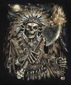 Indian Skeleton decal sticker