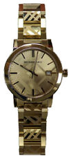 Mens Womens Burberry Unisex Swiss Gold Ion-Plated Stainless Steel Bracelet Watch