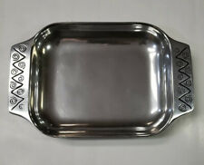 """Wilton Armetale Pewter Bread Platter Jazz Tray 10"""" x 6."""" Made in 🇺🇸 USA"""