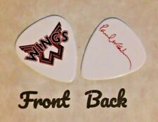 Wings band Paul Mccartney signature logo guitar pick (w)