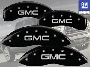 "2001-2007 ""GMC"" Sierra 1500 HD Front + Rear Black MGP Brake Disc Caliper Covers"