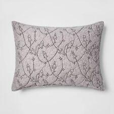 Pillowfort Heathered Rocket Space Stitch Standard Quilt Pillow Sham Gray New