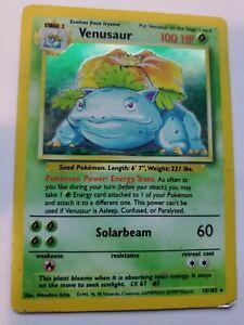 Base Set Venusaur Holo Pokemon Card