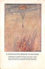 C5955) AVIAZIONE, PARACADUTISTI, IL PARACADUTE, ORDIGNO DI SALVEZZA. ILL. CISARI