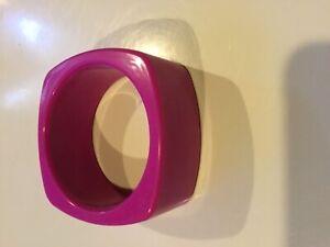 Pink Square sensory cheW bracelet, chewable, BPA free