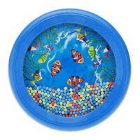 Ocean Wave Bead Drum Gentle Sea Sound Musical Educational Toy Tool for Baby B5K8