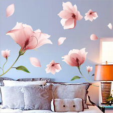Romantic Removable Pink Flower Wall Sticker Mural Decals Home Living Room Decor