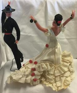 "Vintage 7"" Marin Spanish Flamenco Chiclana Dancing Pair Couple"