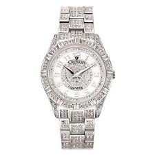 Croton Men's CN307545RHMP Balliamo Crystal Accent Silver Tone Watch