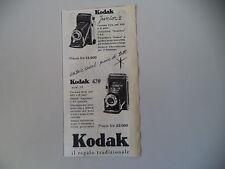 advertising Pubblicità 1953 KODAK JUNIOR II/620 MOD. 32