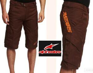 mint! ALPINESTARS manual freeride mountain biking shorts padded liner mens 38 XL