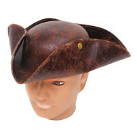 TRICORN HAT #BROWN PIRATES OF THE CARIBBEAN  FANCY DRESS ADULT OUTFIT ACCESSORY
