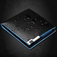 Men Bifold Business Leather Wallet Money Card Holder Coin Bag Purse Gift Black