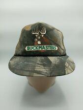 Vtg Buckmasters Camo Mesh Snapback Trucker Hat Cap USA Made Clean!