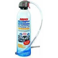 ABRO CAR or HOME AIR CONDITIONING A/C AIR CON CLEANER 255g sanitazer kills germs