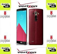 LG G4 VS986 32 GB Wine Red  STRAIGHT TALK Page Plus Verizon 4g LTE