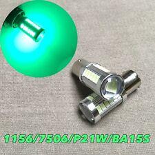 Front Turn Signal bulb 1156 BA15S 7506 3497 P21W 33 SMD samsung LED Green W1 JAE