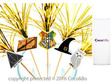 "Coco&Bo 10 x Hogwarts School 6"" Party Picks Harry Potter Table Decorations"