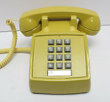 Yellow Western Electric 2500 TouchTone Desk Telephone - Full Restoration
