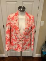 J. Crew Collection Pink/White Floral Embroidered Blazer, Size 2, NWT!