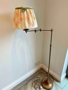 Besselink & Jones Alexander Swing Arm Floor Lamp Distressed Brass