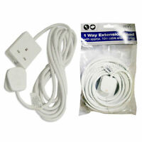 1 WAY EXTENSION LEAD 5 METRE GANG CABLE 13A AMP ELECTRICAL MAINS ADAPTER NEW
