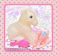 ❤️My Little Pony MLP G1 Style HQG1C Sitting Earth Pony Sparkle Glitter Blank❤️