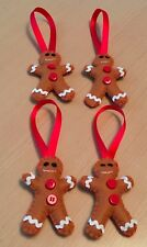 4 Hanging Gingerbread Men Christmas Tree Decoration Gingerbread Man Handmade