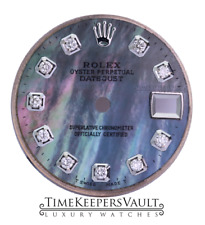 Custom Tahitian Diamond Dial To Fit Rolex Lady Datejust 26mm  Stainless Steel