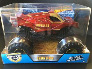 Hot Wheels Monster Jam Iron Man Ironman Avengers Truck Toy Car Big 1:24 4wd New