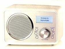 Red Inspired Listening Wood Effect Cream DAB Digital Radio