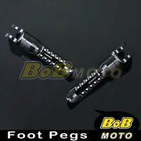 Billet Black Anti-slip Front Foot Pegs For Triumph Bonneville SE T100 Carb 2003