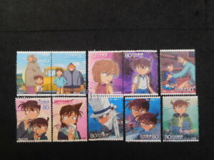 JAPAN COMMEMO STAMPS ( ANIMATION HERO & HEROINE.CONAN ) USED