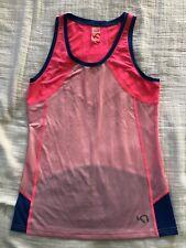 KARI TRAA womens M activewear Tank Top pink blue Norway