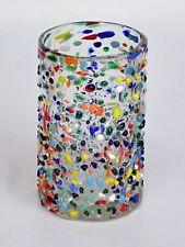 Mexican Glassware - Confetti rocks drinking glasses (set of 6)